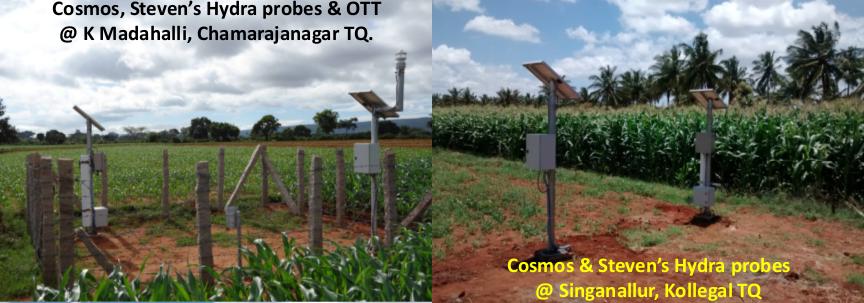 Installed COSMOS soil moisture sensor in AMBHAS site.